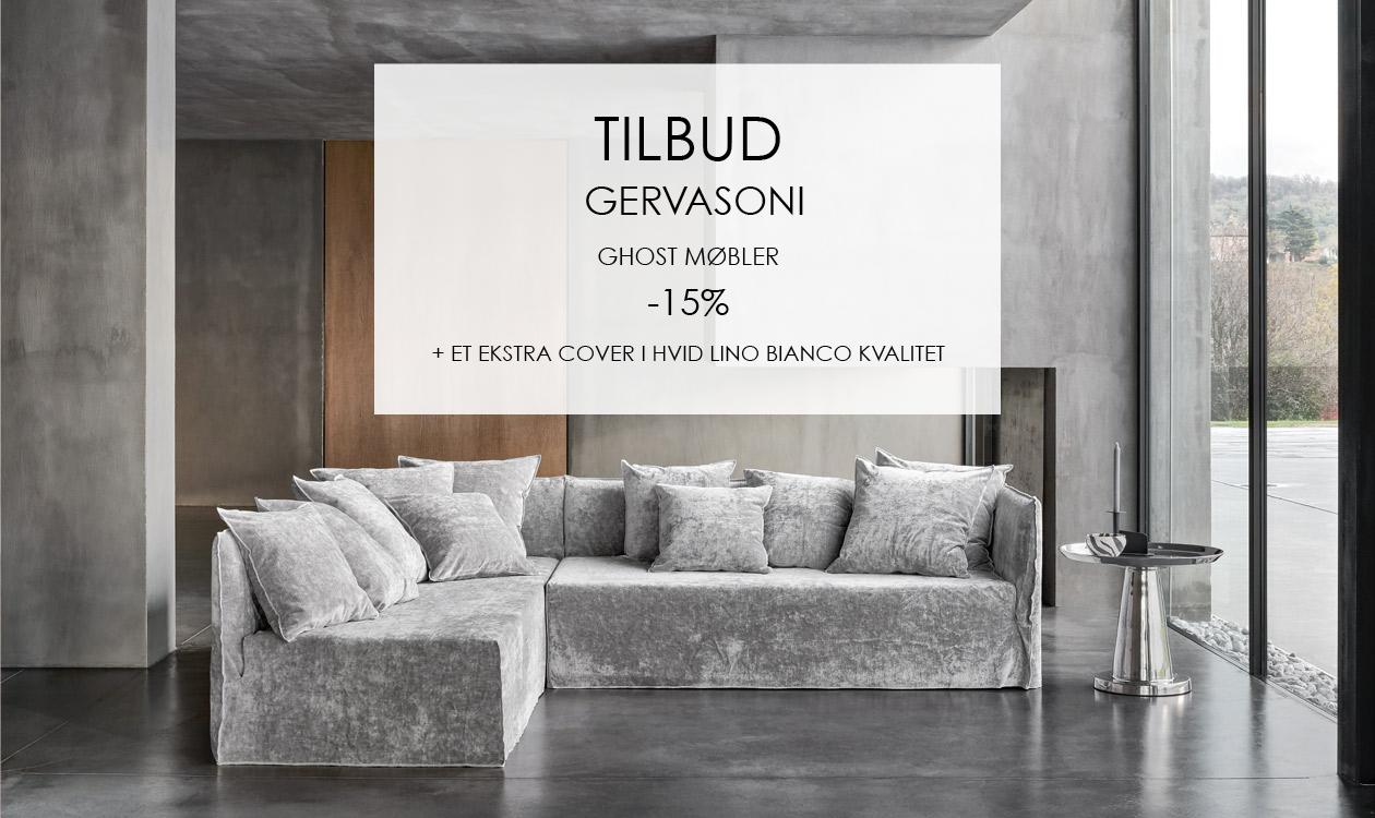 Spar 15% på Gervasoni Ghost Møbler + et gratis cover i Lino Bianco