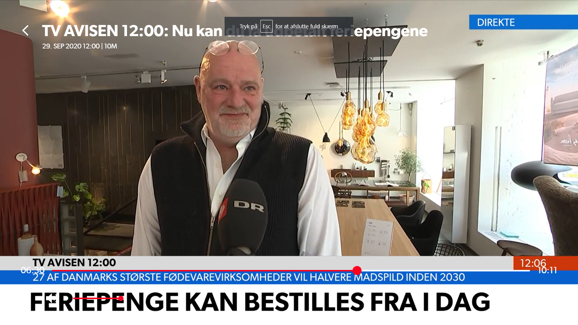 CasaShop i TV-Avisen, DR d. 29.09.2020