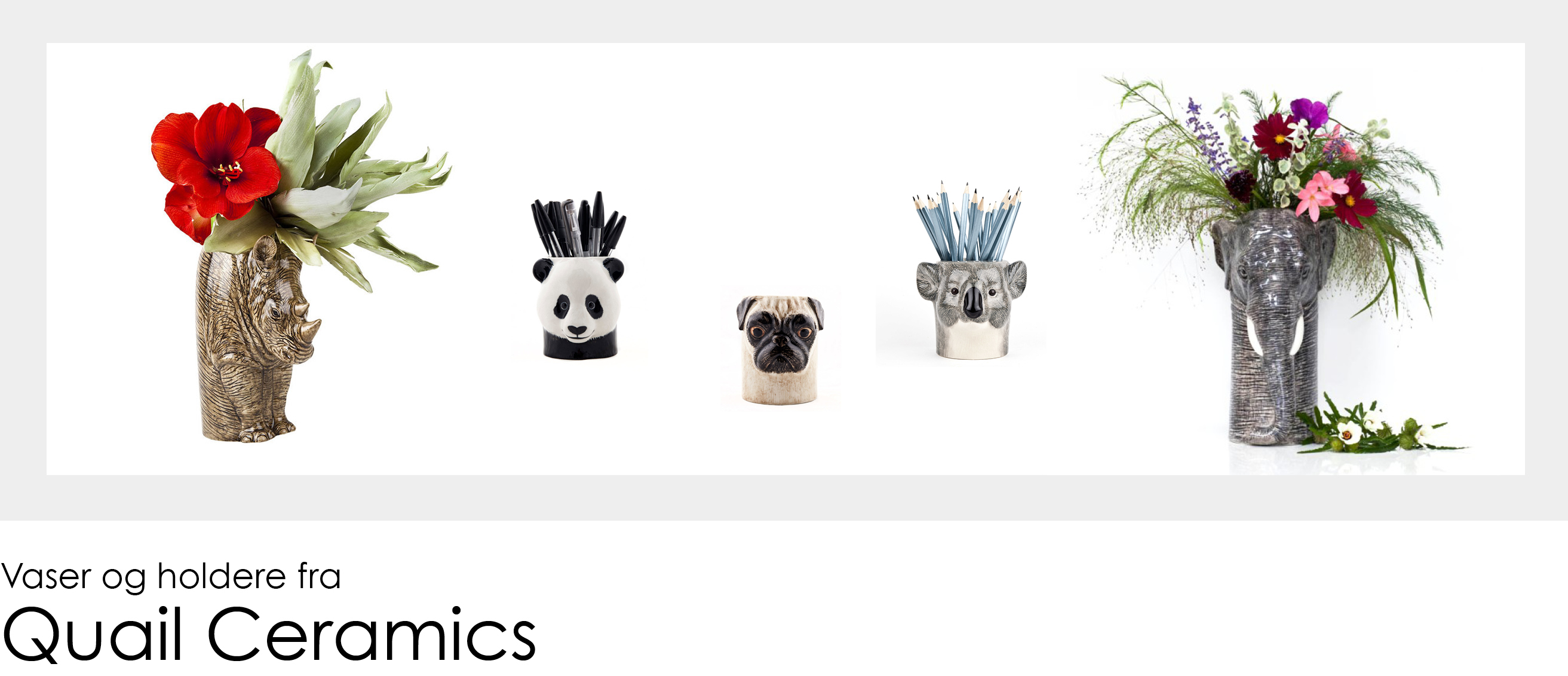 Vaser og holdere fra Quail Ceramics