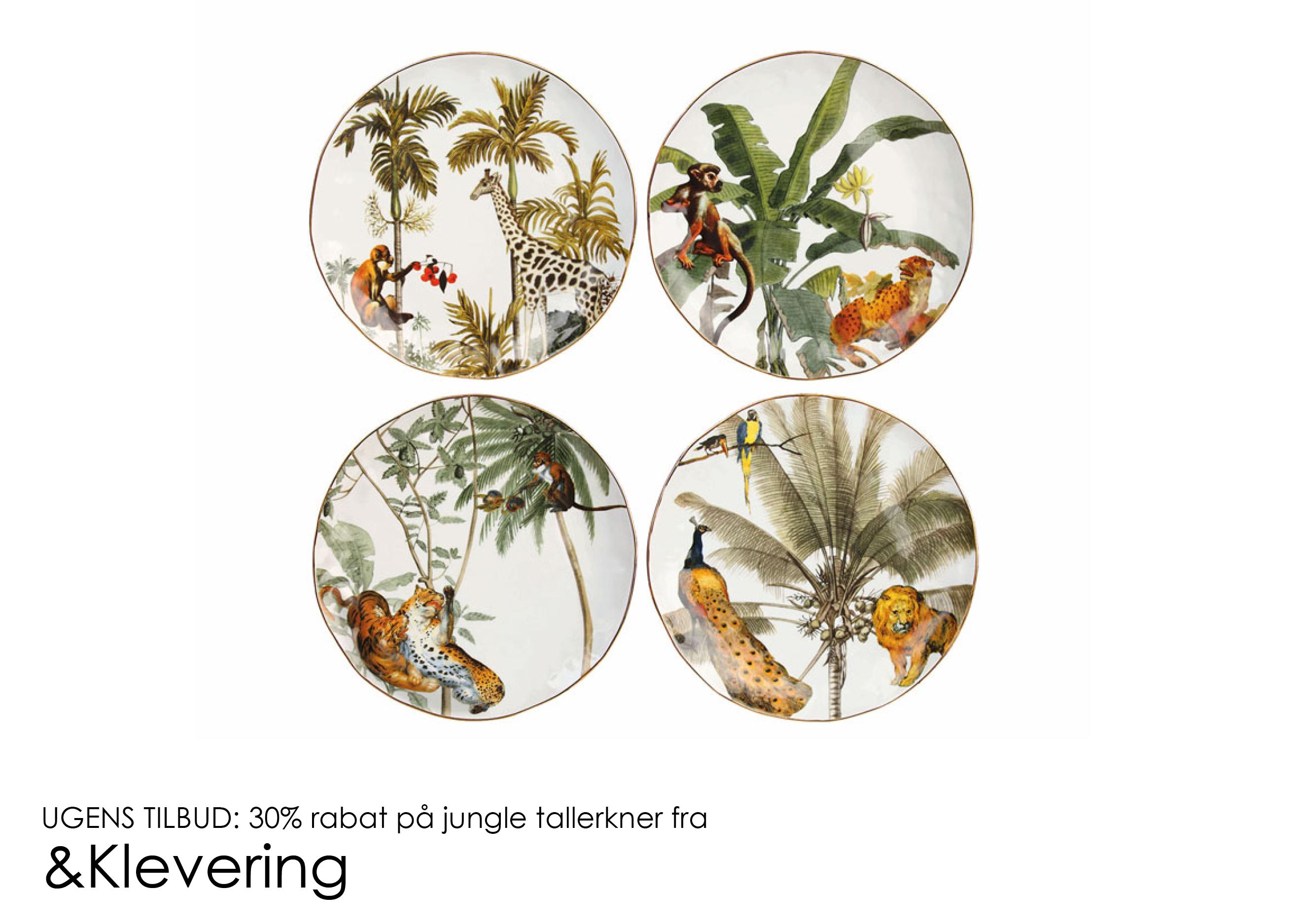 Ugens tilbud: 30% rabat på Jungle tallerkner fra &Klevering