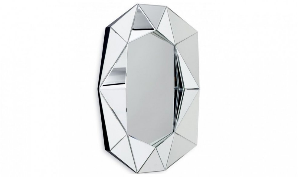 Diamond Mirror Large - Silver