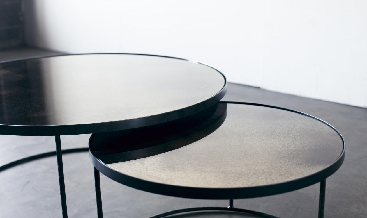 Round Nesting Coffee Table Set Sofa Sideborde
