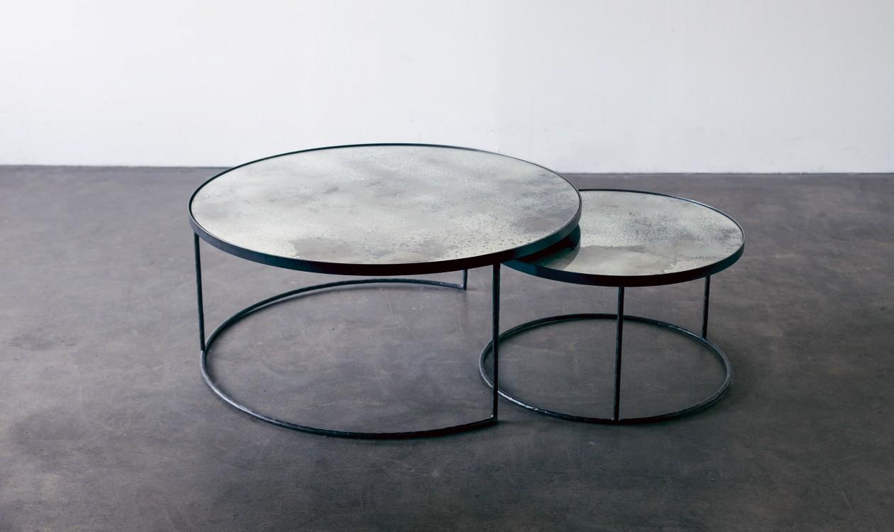 Round Nesting Coffee Table Set Sofa Sideborde Casashopping