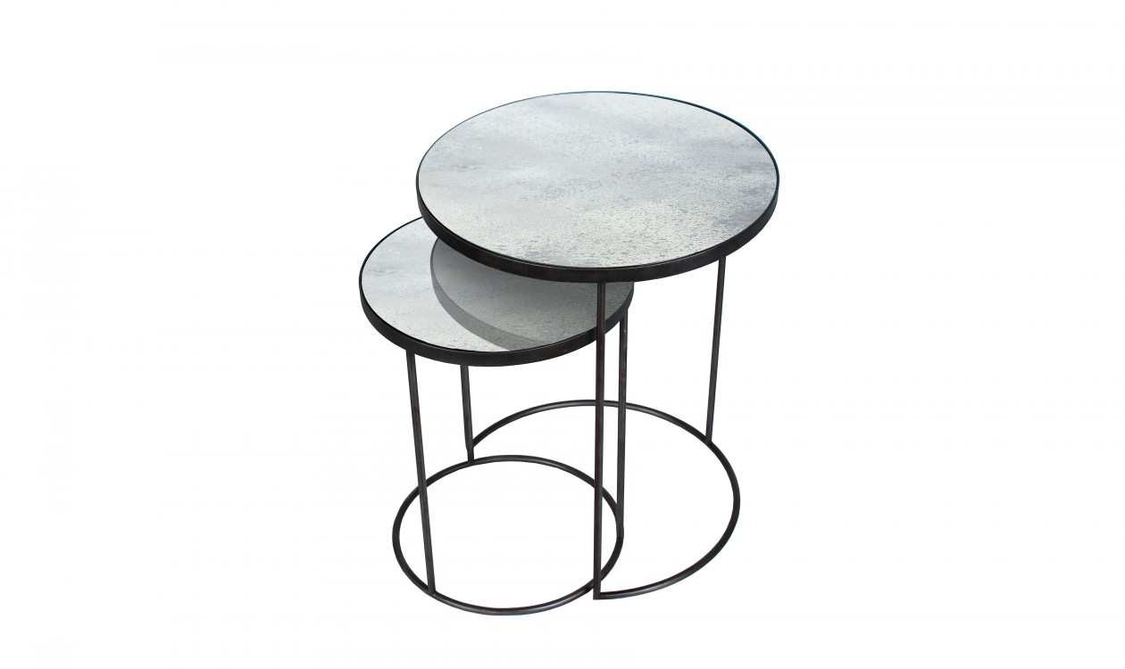 Round Nesting Side Table Set Small Tables Casashopping