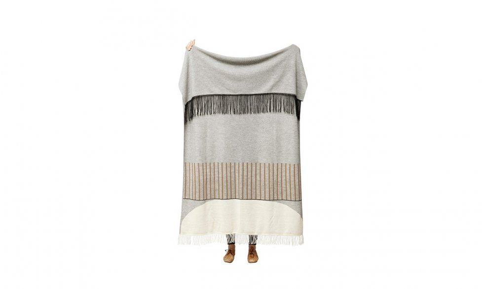 Aymara Plaid, Pattern Grey