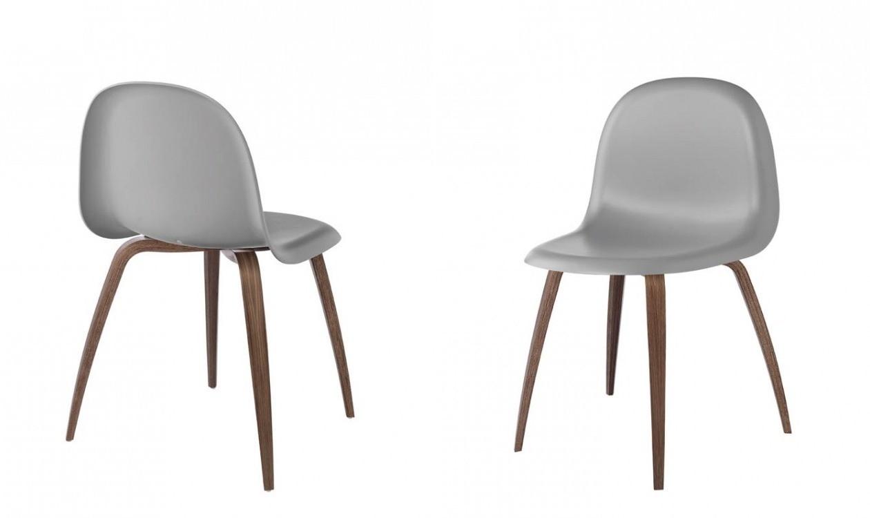 3D Dining Chair HiRek skalamerikansk valnød