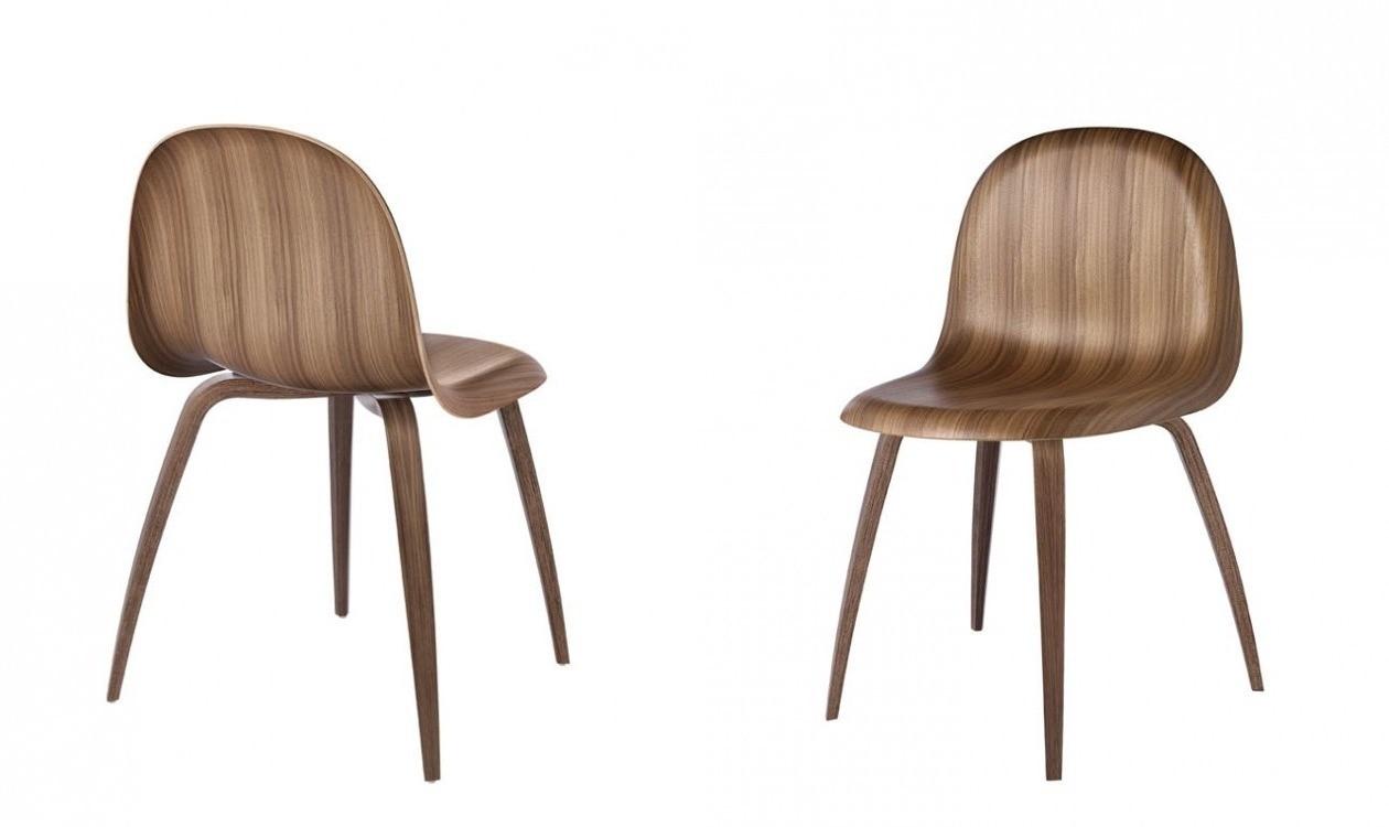 3D Dining Chair Amerikansk valnød