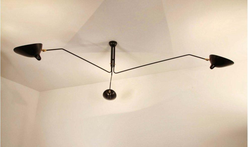 serge mouille ceiling lamp 3 rotating arms loftlamper casashopping. Black Bedroom Furniture Sets. Home Design Ideas